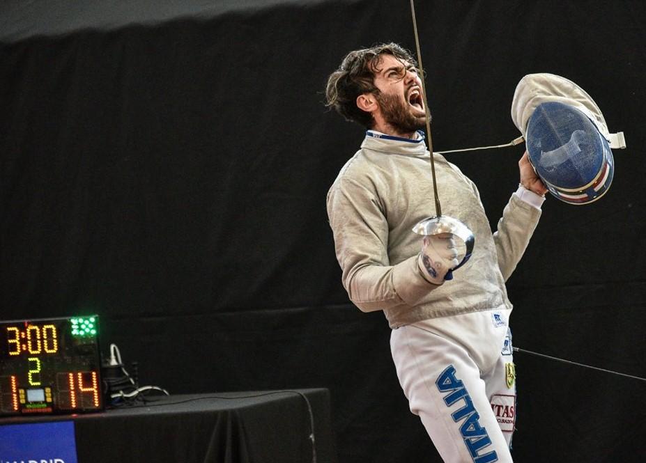 Enrico Berrè esulta MADRID2018