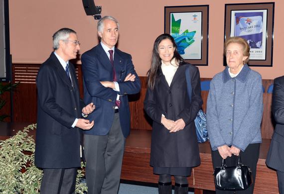 024 il presidente malago ranucci la signora manuela con la mamma
