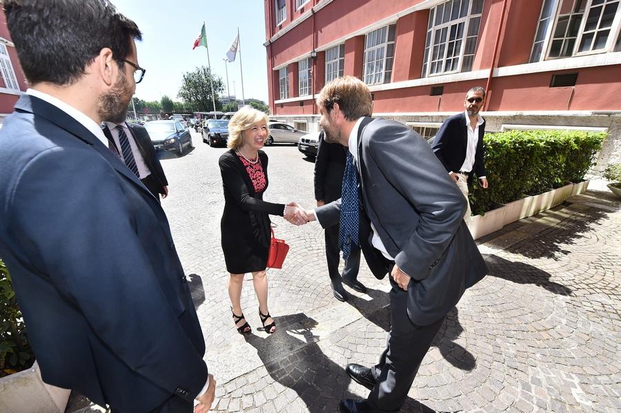 01 Ministro dell'Istruzione, dell'Università e della Ricerca, Stefania Giannini, con Soro