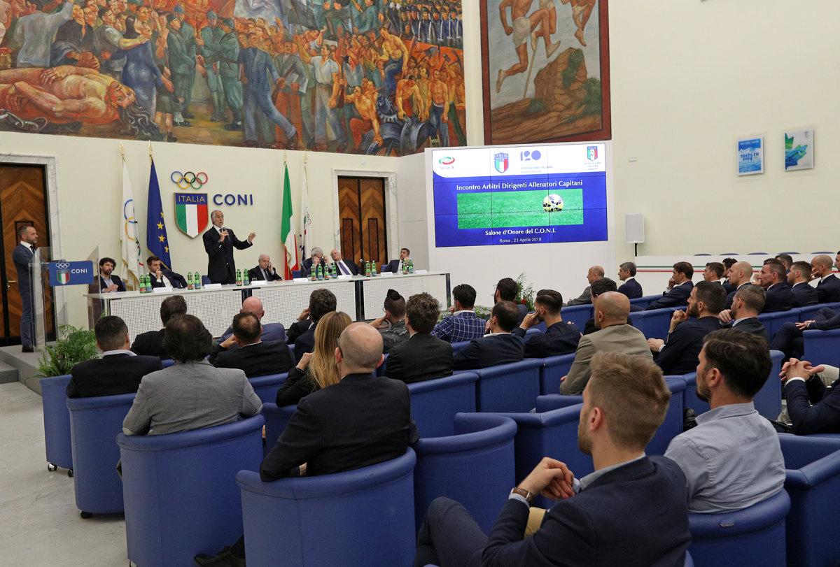 060 Incontro FIGC CAN Giocatori Allenatori Pagliaricci GMT