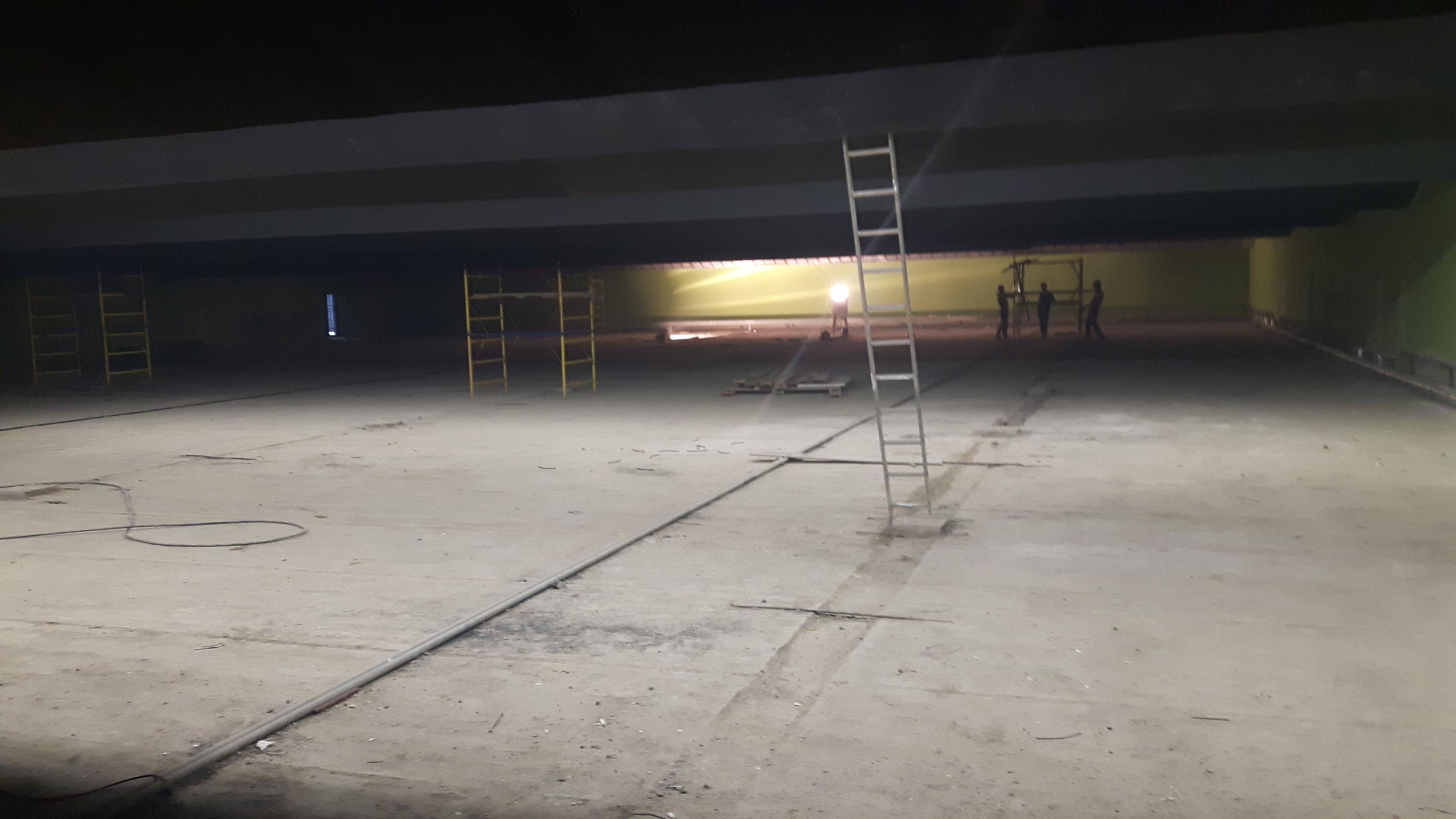 linee di tiro dello shooting centre in costruzione