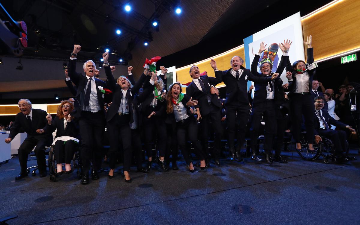 20190624 Assegnazione Olimpiadi2026 MilanoCortina Vincitrice Foto Pagliaricci GMT Sport001