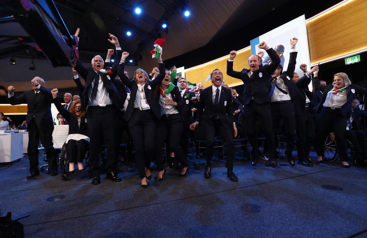 20190624 Assegnazione Olimpiadi2026 MilanoCortina Vincitrice Foto Pagliaricci GMT Sport002