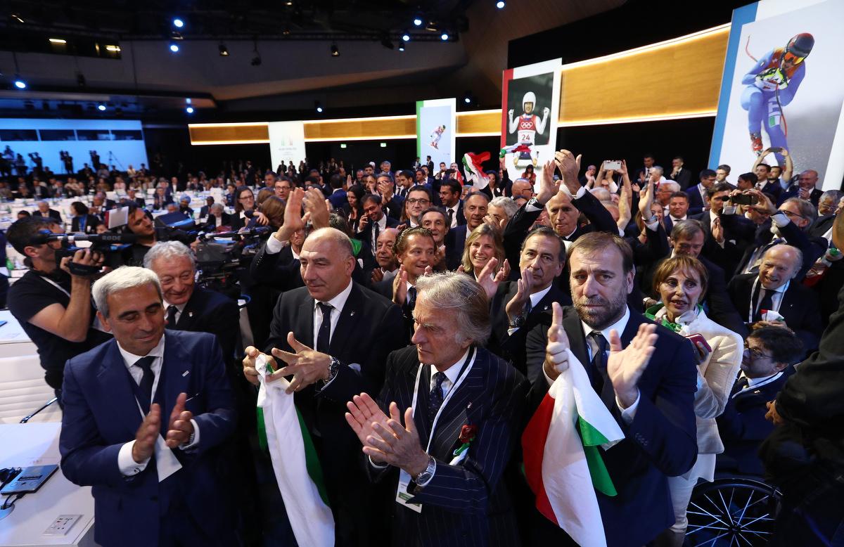 20190624 Assegnazione Olimpiadi2026 MilanoCortina Vincitrice Foto Pagliaricci GMT Sport042