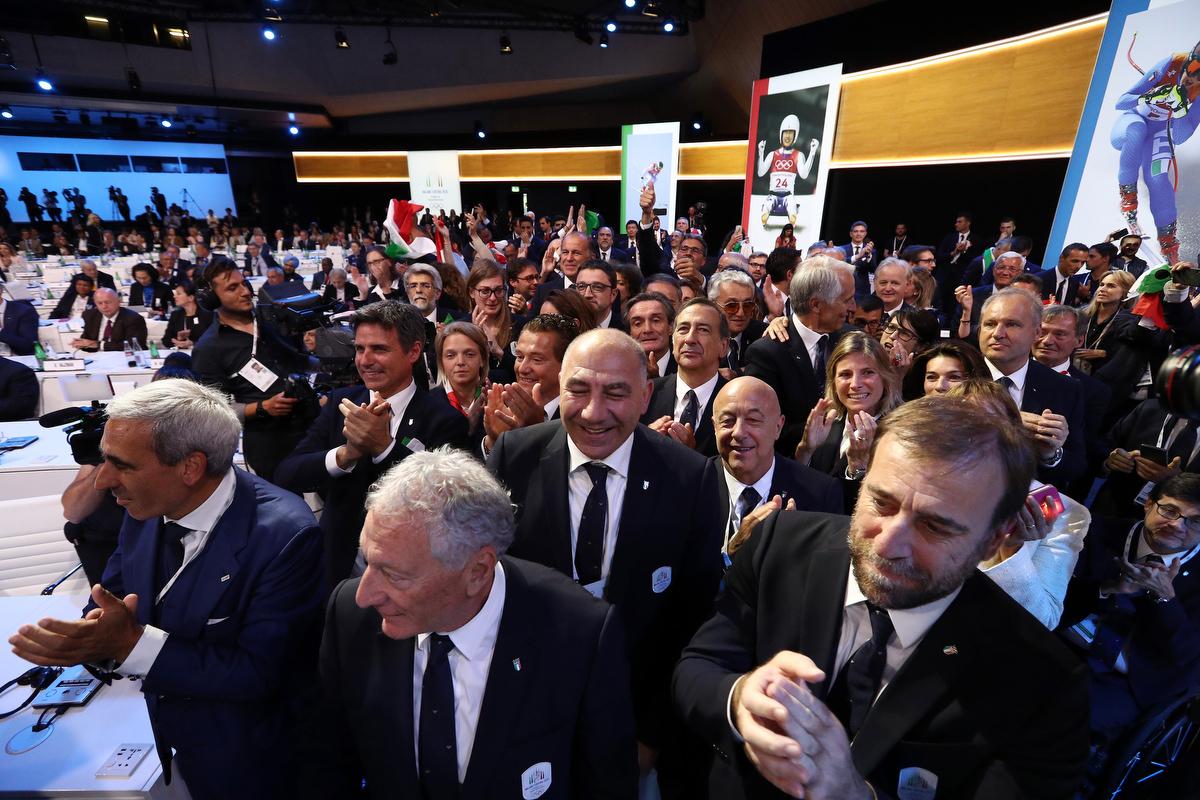 20190624 Assegnazione Olimpiadi2026 MilanoCortina Vincitrice Foto Pagliaricci GMT Sport043