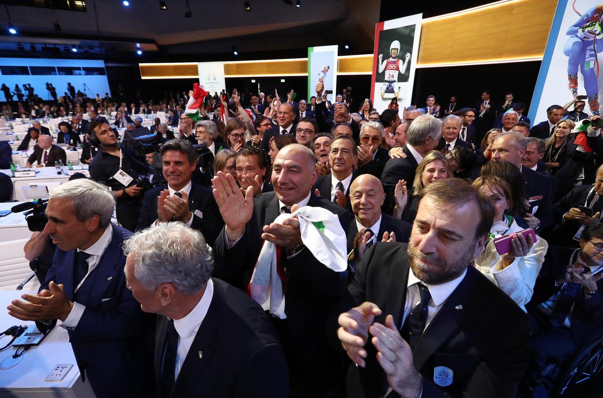20190624 Assegnazione Olimpiadi2026 MilanoCortina Vincitrice Foto Pagliaricci GMT Sport044