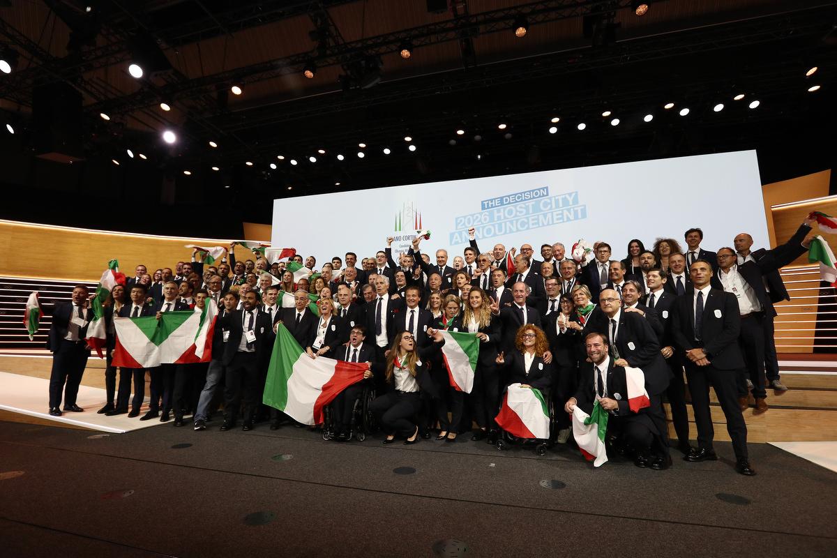 20190624 Assegnazione Olimpiadi2026 MilanoCortina Vincitrice Foto Pagliaricci GMT Sport052