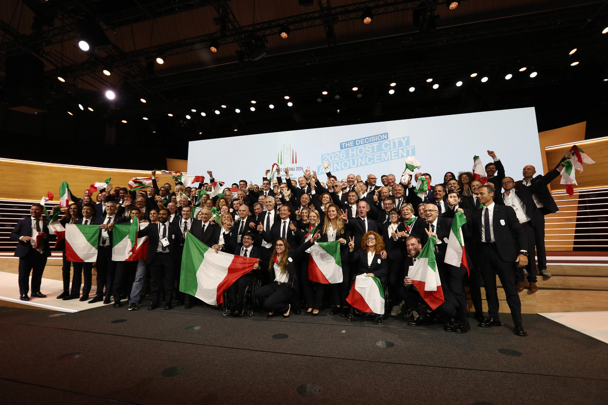 20190624 Assegnazione Olimpiadi2026 MilanoCortina Vincitrice Foto Pagliaricci GMT Sport053