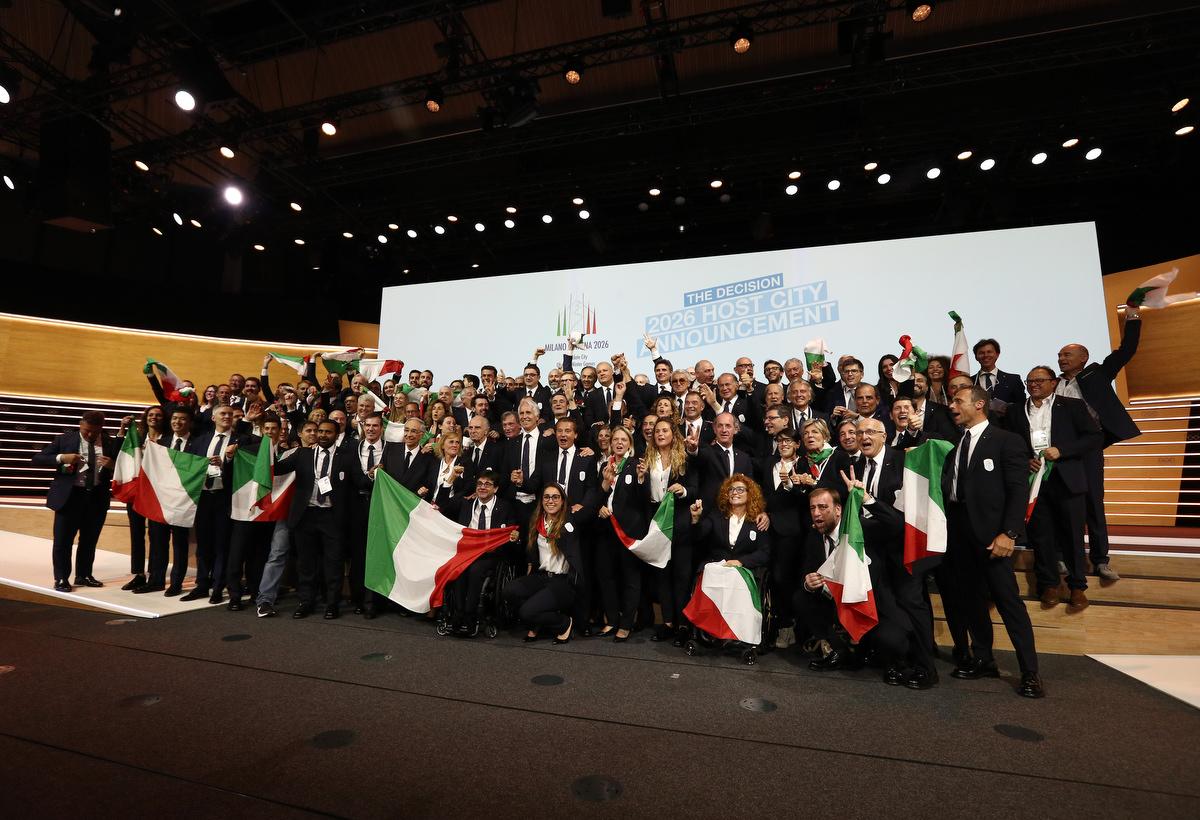 20190624 Assegnazione Olimpiadi2026 MilanoCortina Vincitrice Foto Pagliaricci GMT Sport054