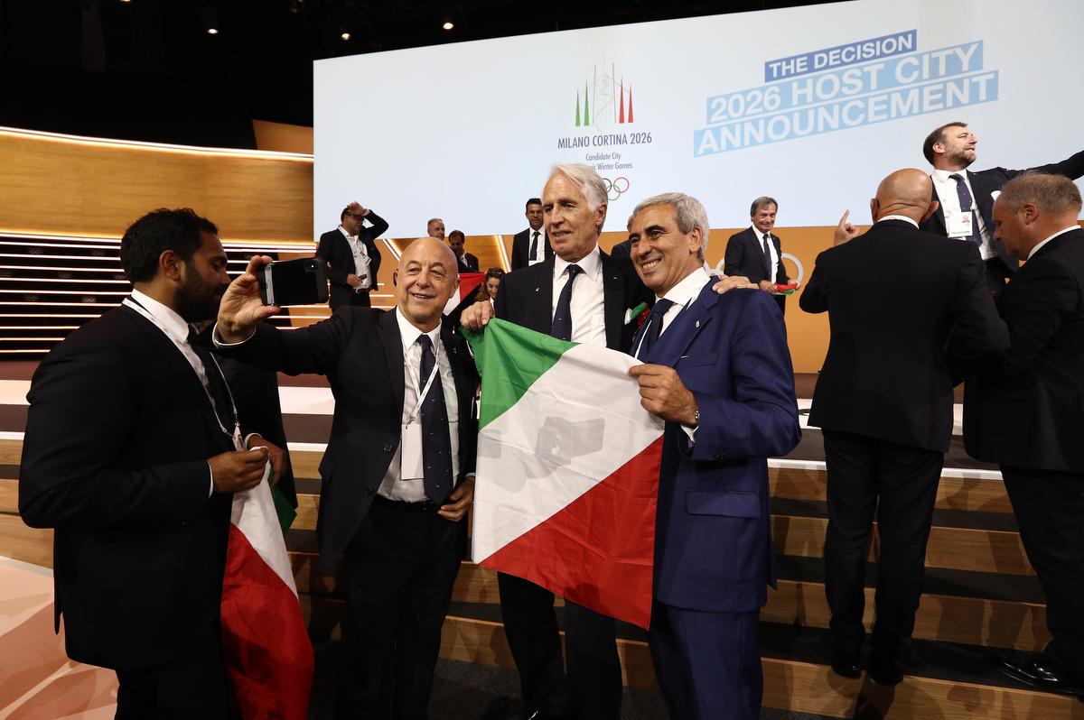 20190624 Assegnazione Olimpiadi2026 MilanoCortina Vincitrice Foto Pagliaricci GMT Sport056
