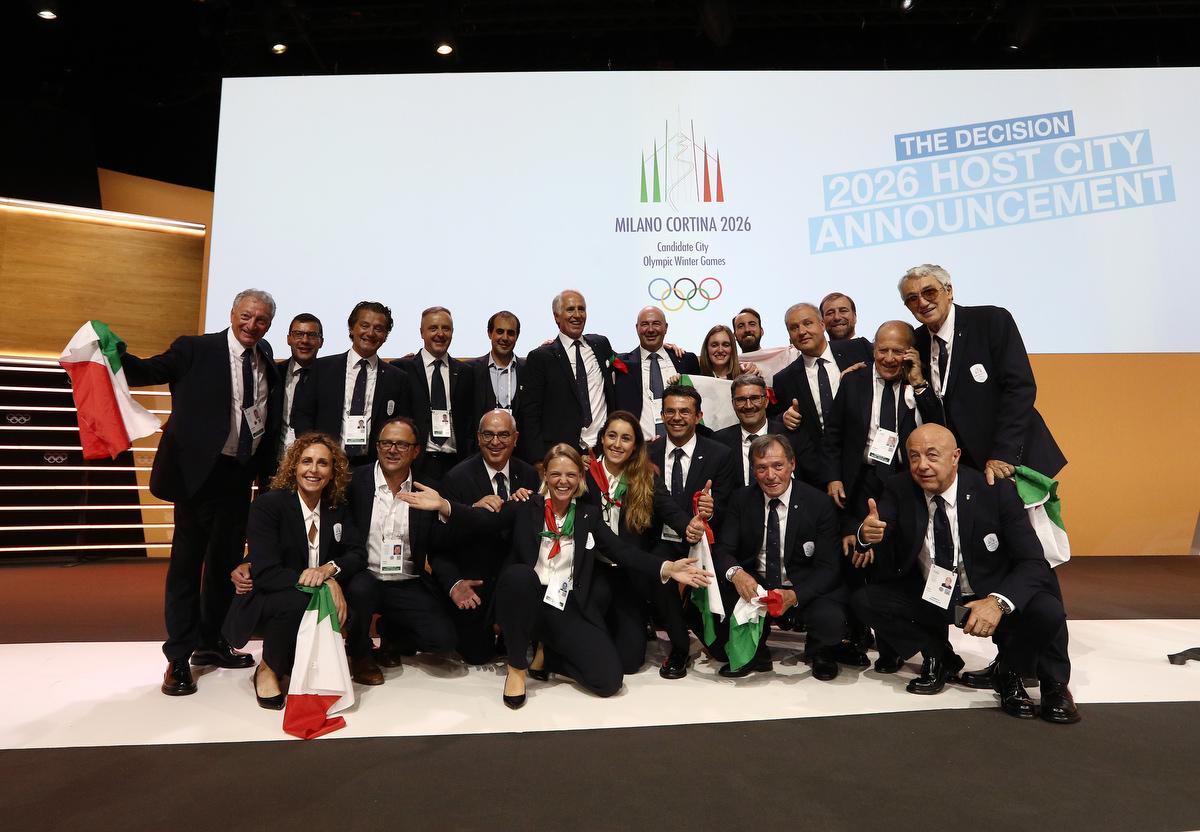 20190624 Assegnazione Olimpiadi2026 MilanoCortina Vincitrice Foto Pagliaricci GMT Sport057