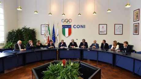 Firma dell'Accordo CONI-ANCI