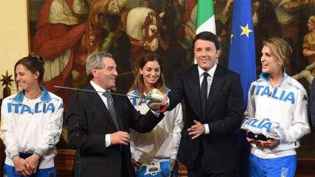 La scherma dal Premier Renzi
