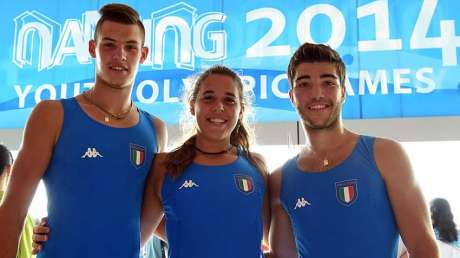 Nanjing 2014 - Canottaggio - Arianna Mazzoni/Riccardo Mager/Riccardo Peretti
