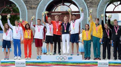 Triathlon-Podio