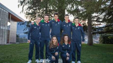 08 Mattia Armellini, Nicola Castelli, Martina Bellini (Sci di fondo), Lorenzo Moschini, Antonio Vittori e Petra Smaldore (Sci Alpino)