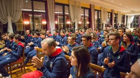 17 Panoramica della squadra azzurra