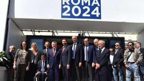 Il Presidente Thomas Bach in visita a Roma