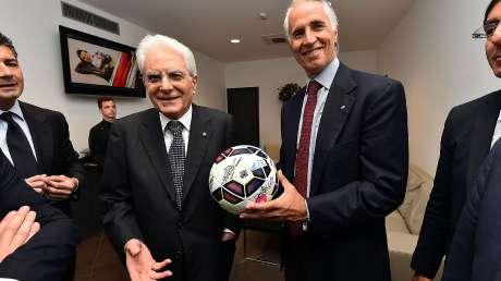 Presidente Mattarella allo Stadio Olimpico per la finale Tim Cup