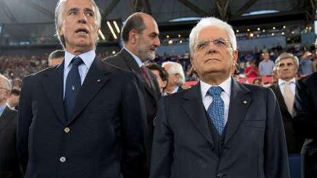 Il Presidente della Repubblica Mattarella all'Olimpico per la finale di TIM CUP Milan-Juve