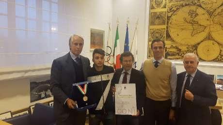 Consegna del Collare d'Oro a Fabio Basile e della Palma al merito tecnico a Murakami