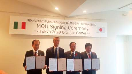 E' già Tokyo 2020: Mornati firma l'accordo per il Campus preolimpico della squadra italiana a Tokorozawa