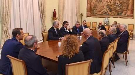 Bach (CIO) incontra i vertici dello sport italiano e il Sottosegretario Giorgetti