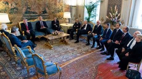 Bach ricevuto dal Presidente della Repubblica Mattarella insieme ai vertici dello sport italiano