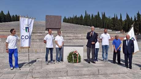 Lo sport italiano omaggia i caduti della Grande Guerra a Redipuglia
