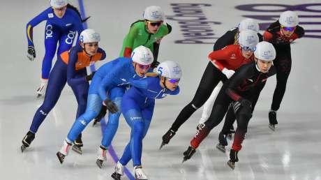 Lollobrigida, Bettrone e Giovannini nelle mass start di pattinaggio di velocità