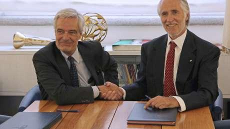 Malagò e Glisenti firmano il protocollo d'intesa, anche lo Sport all'Expo 2020 di Dubai