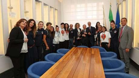Malagò e Mornati celebrano con Petrucci le Campionesse del Mondo di basket 3x3