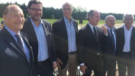 Malagò, Giorgetti, Zaia e Di Rocco inaugurano lavori del velodromo di Spresiano