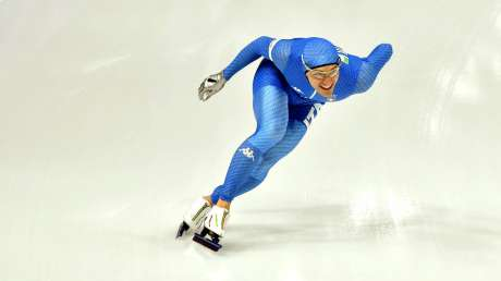 Mirko Nenzi sui 1000 metri nell'Oval di Gangneung