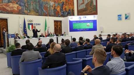 Riunione degli Arbitri, Capitani, Allenatori di Serie A al CONI