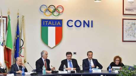 Giunta Nazionale CONI con il Sottosegretario Giorgetti