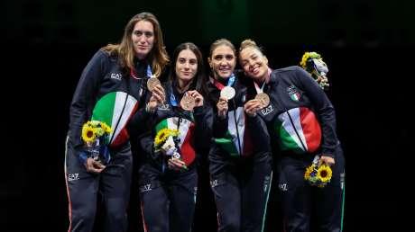 Fioretto a Squadre Femminile Medaglia  Foto Bisi GMT BISI5495