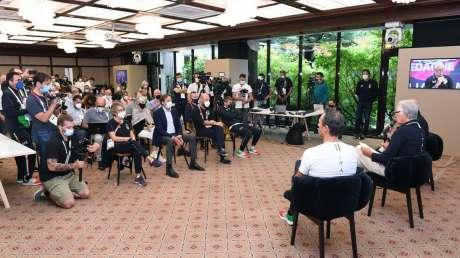 Conferenza Chiusura Malago  foto mezzelani gmt042